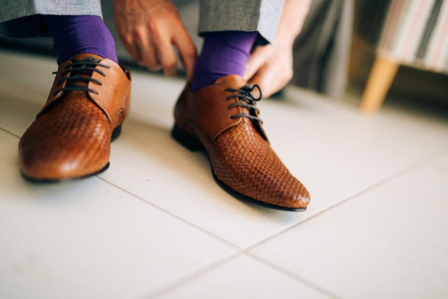 差し色カラー靴下